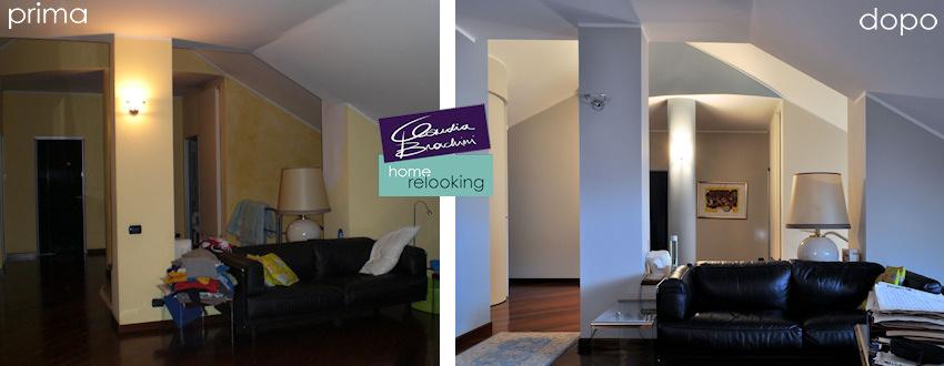 relooking appartamento su più livelli | claudia brachini | torino - Soggiorno Pareti Carta Da Zucchero