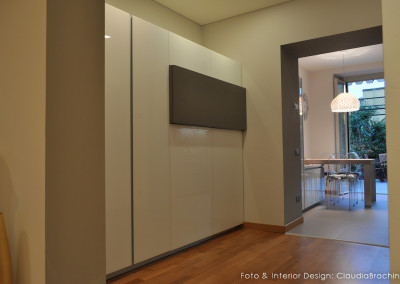 blocco colonne cucina in vetro bianco lucido