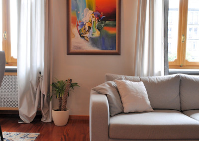 dettaglio del divano Focus di Di Tre