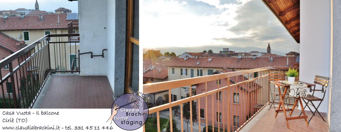 home staging con allestimento terrazzo