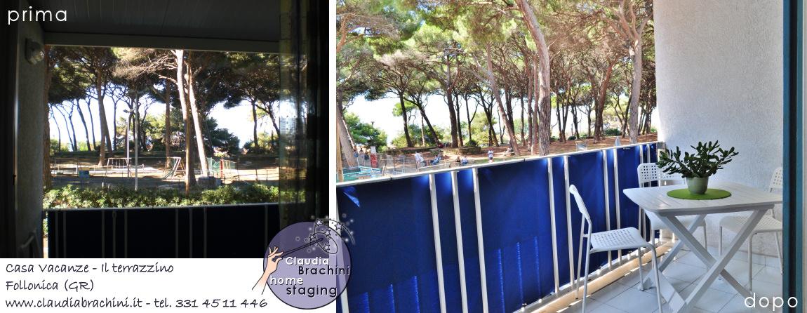 prima e dopo home staging terrazzino