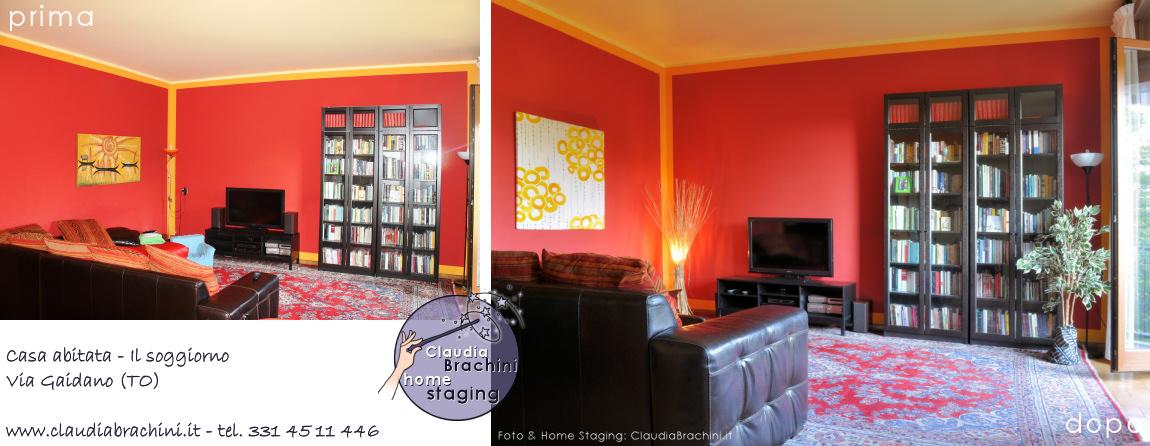 casa abitata prima e dopo soggiorno