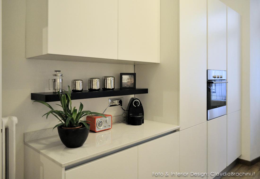 cucina total white senza maniglie