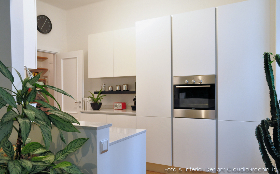 cucina total white con gola