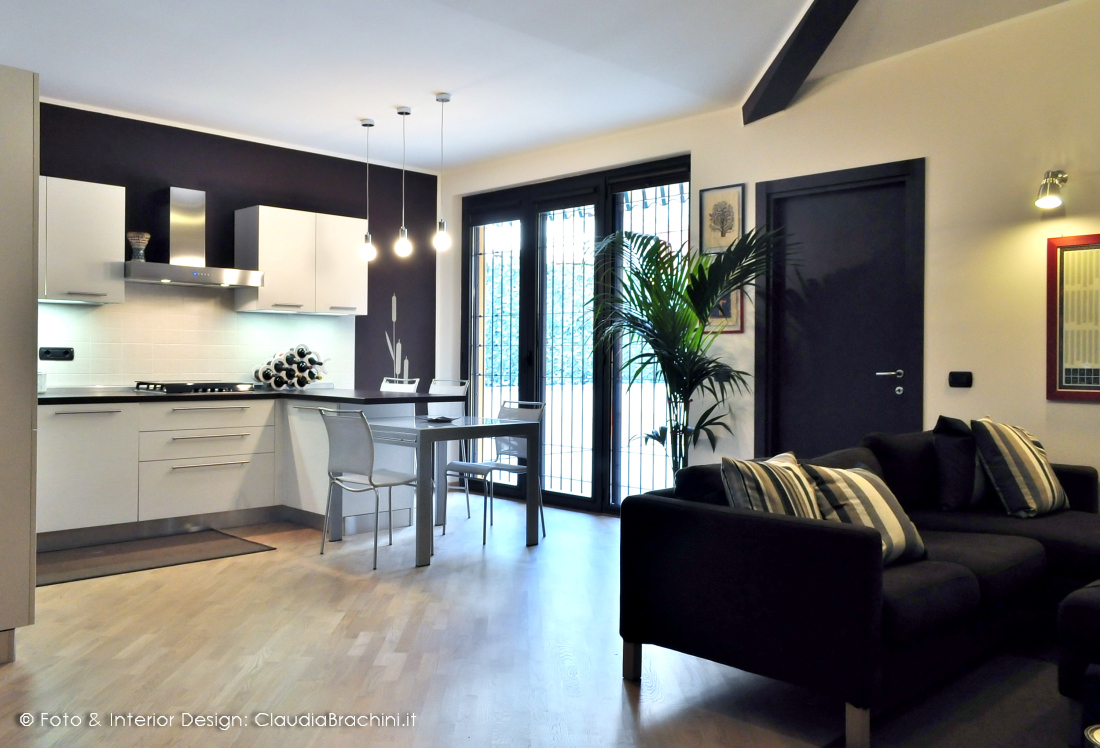 interior design | cucine | claudia brachini | torino - Living Soggiorno Cucina