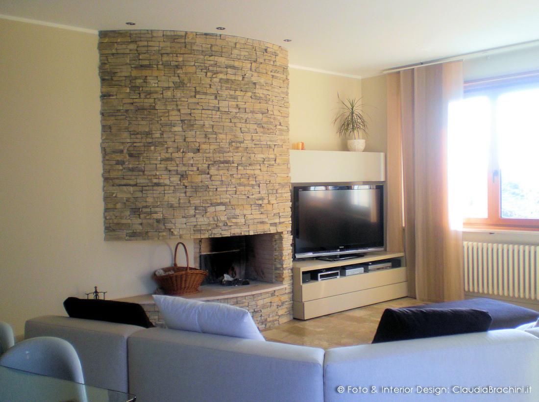 Interior design soggiorni claudia brachini torino for Soggiorno camino