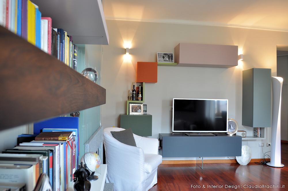 parete TV composizione 36e8 di Lago