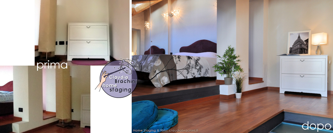 prima e dopo home staging camera casa vacanze