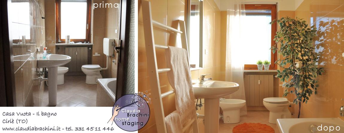prima e dopo home staging bagno