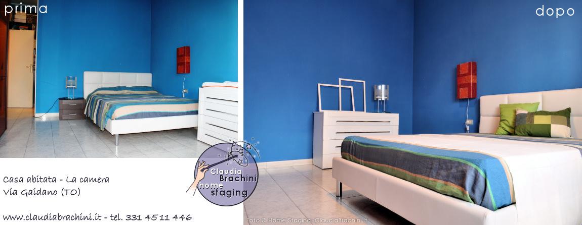 home staging prima e dopo camera da letto