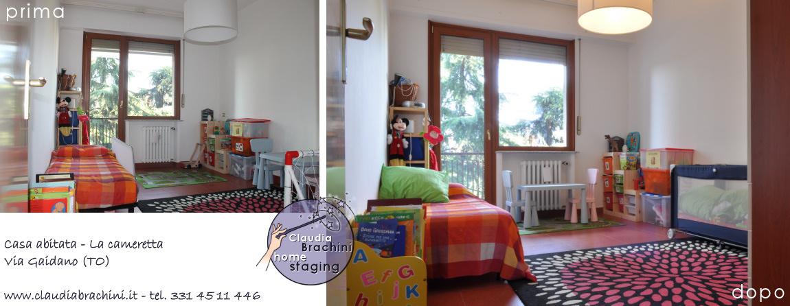 home staging prima e dopo cameretta