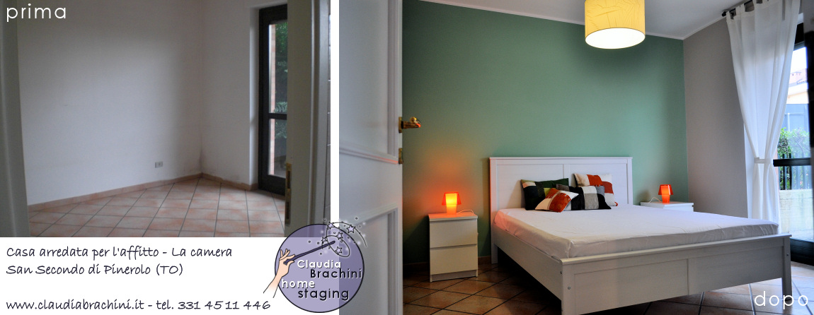 camera arredata ikea parte verde