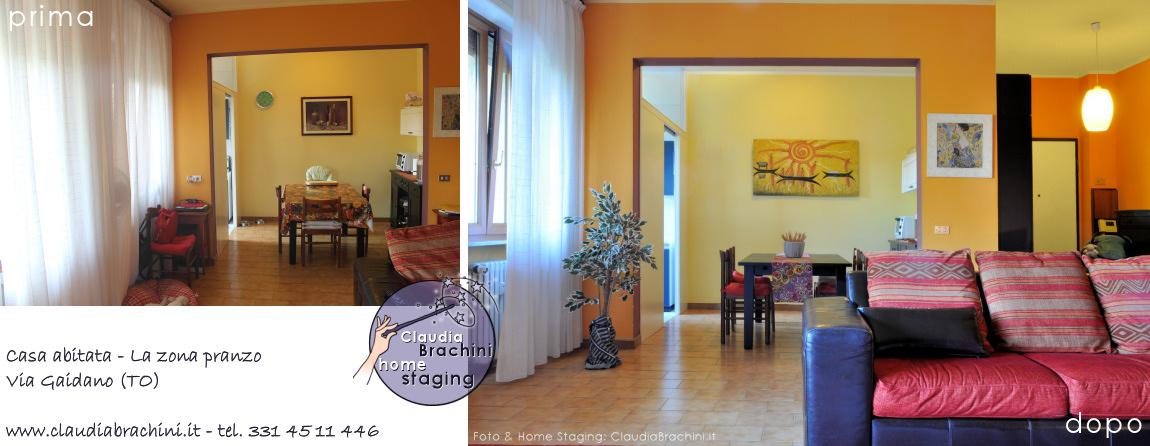 prima e dopo soggiorno casa abitata