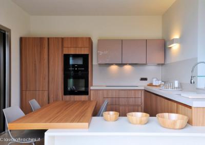 interior design cucina noce canaletto