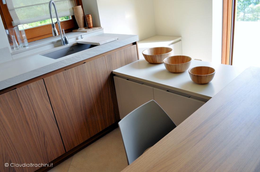 interior design cucina con penisola