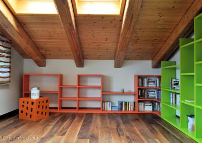 libreria arancio e verde
