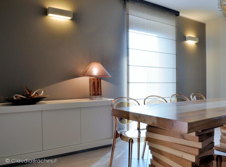 interior design soggiorno parete tortora