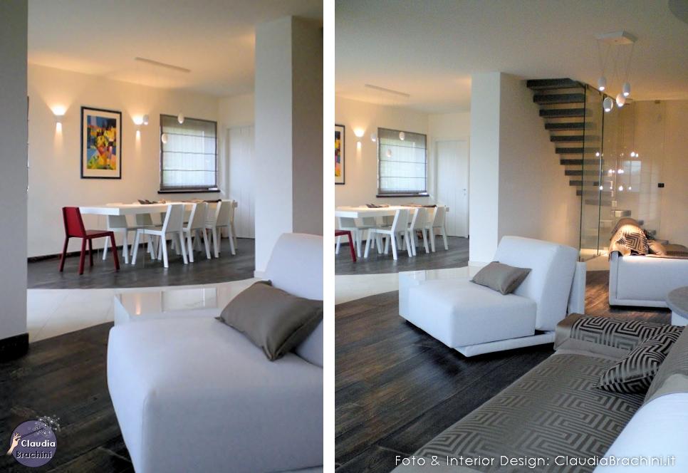 Interior design soggiorni claudia brachini torino for Parete rossa soggiorno