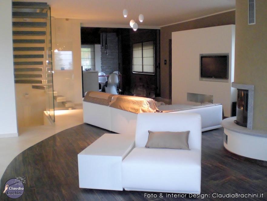 Interior design soggiorni claudia brachini torino for Mobili cartongesso soggiorno