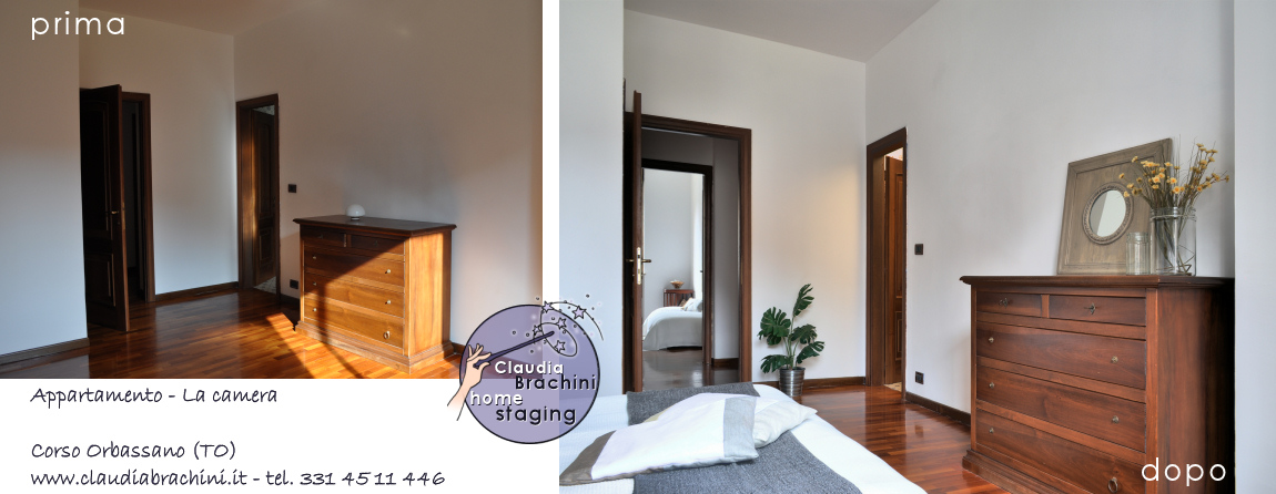 home staging camera prima e dopo