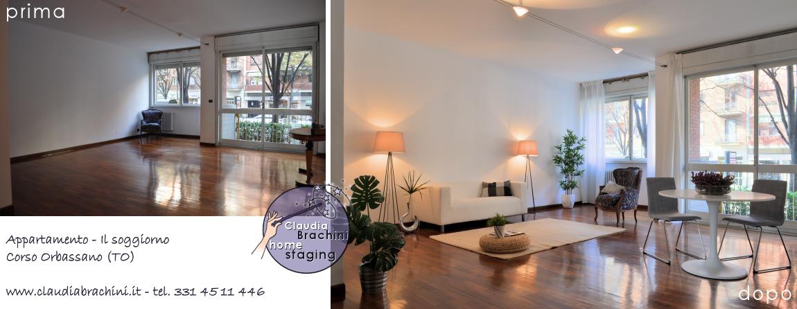 home staging soggiorno casa vuota Claudia Brachini