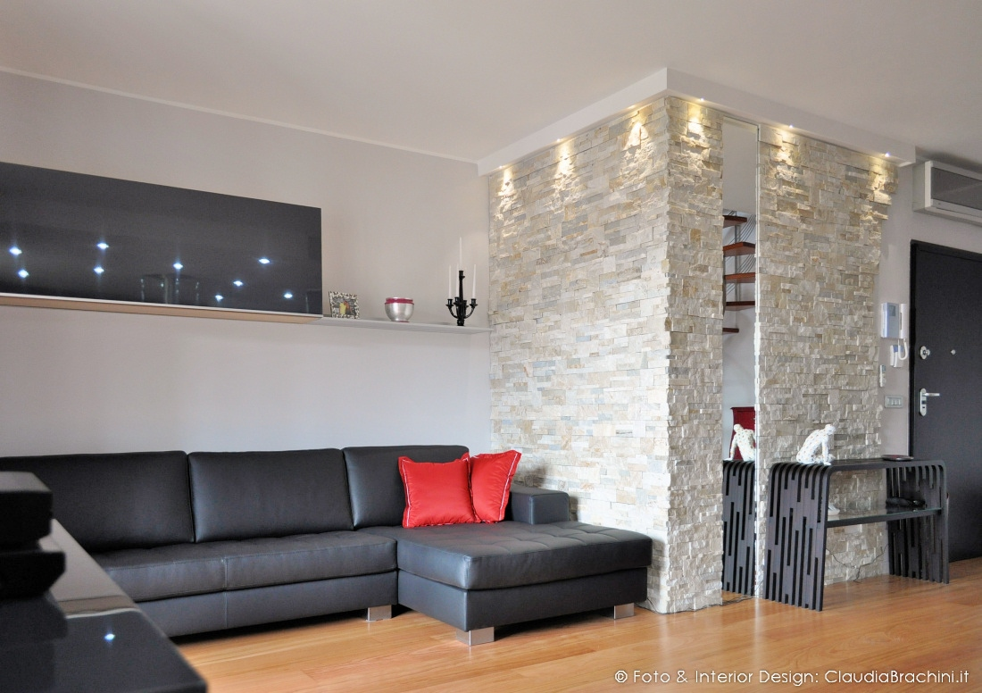 Appartamento con pareti in geopietra  Claudia Brachini  TORINO