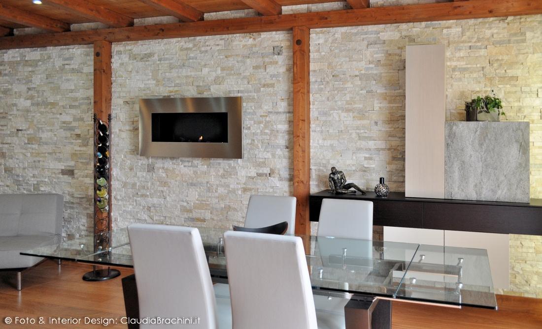 Parete Di Pietra In Salotto.Appartamento Con Pareti In Geopietra Claudia Brachini Torino