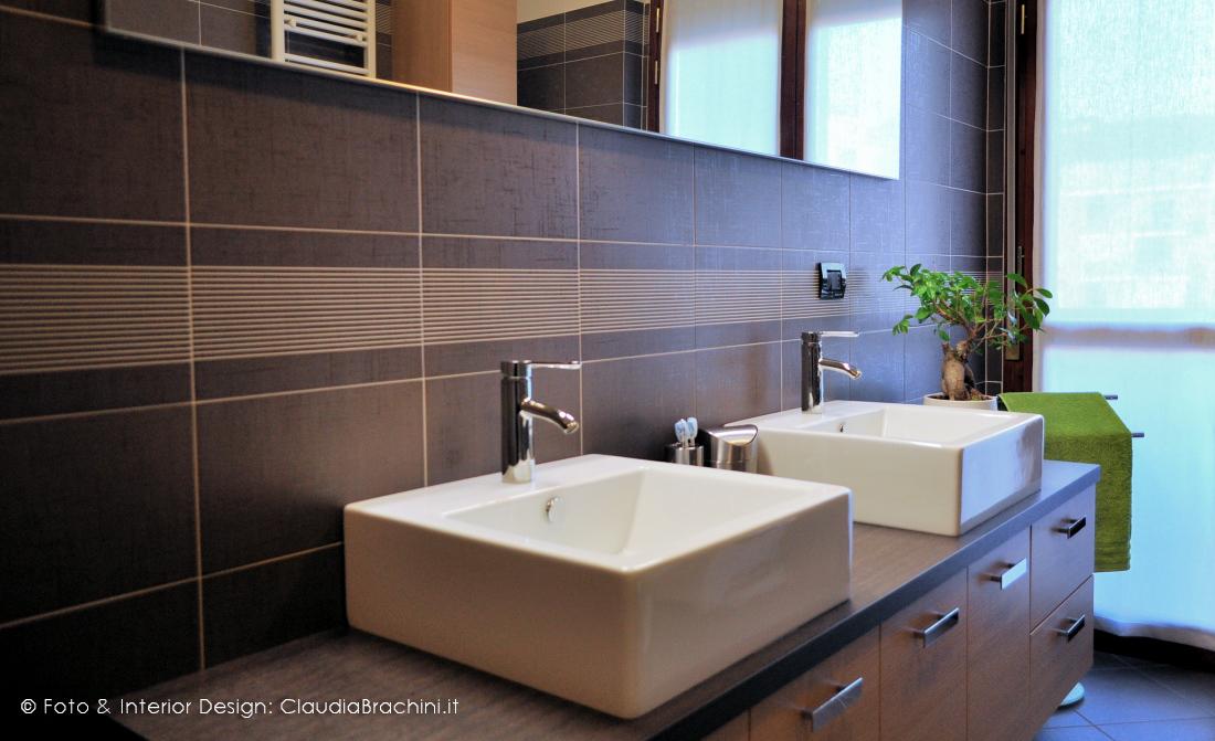 bagno rovere sbiancato con doppio lavabo
