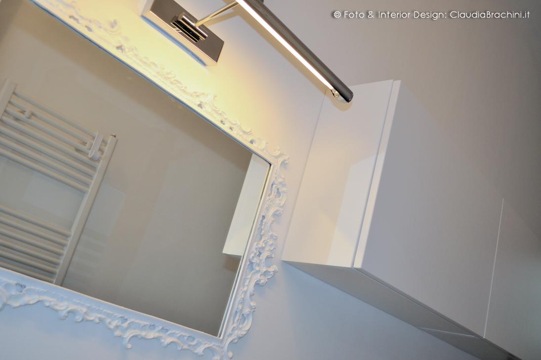 bagno total white con specchio barocco