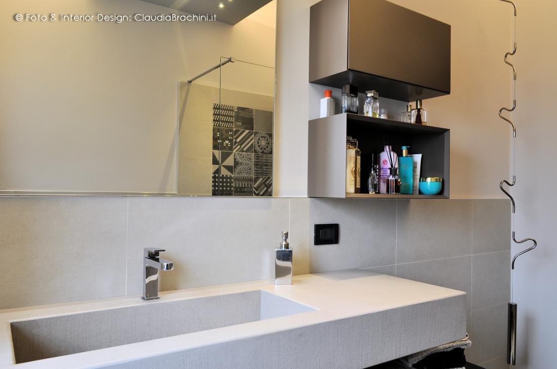 Bagno Con Mosaico Bianco interior design | bagni | claudia brachini | torino