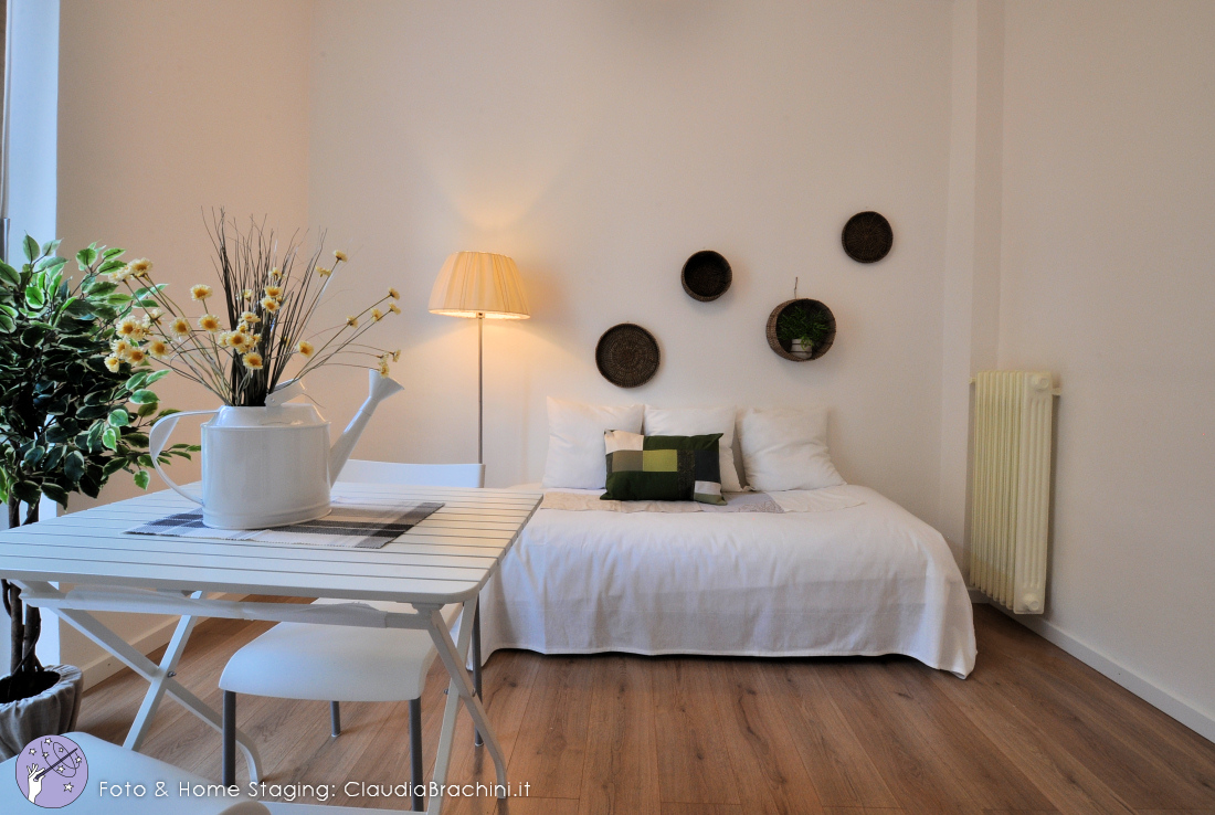home staging casa vuota, living