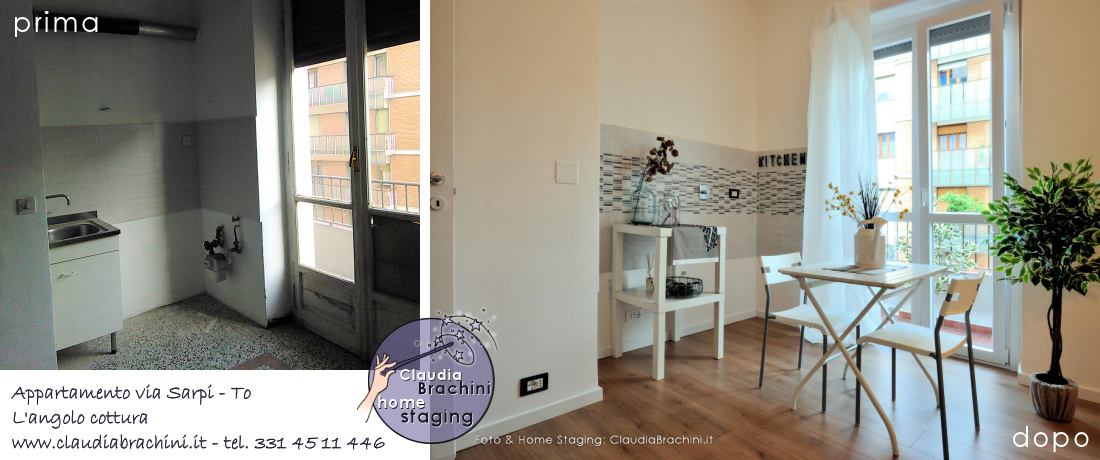 home staging casa vuota, prima e dopo living